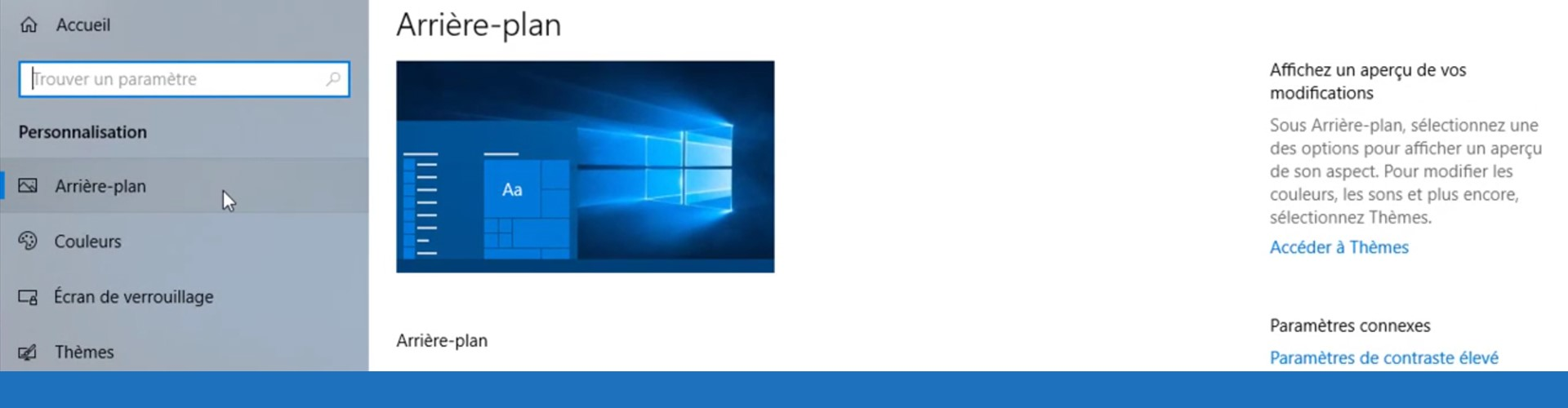 Windows : personnaliser le Bureau