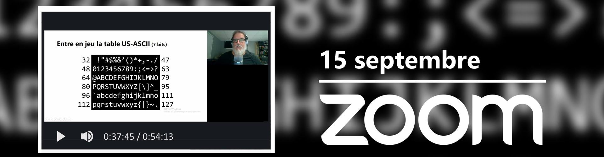 Rencontre du 15 septembre sur Zoom