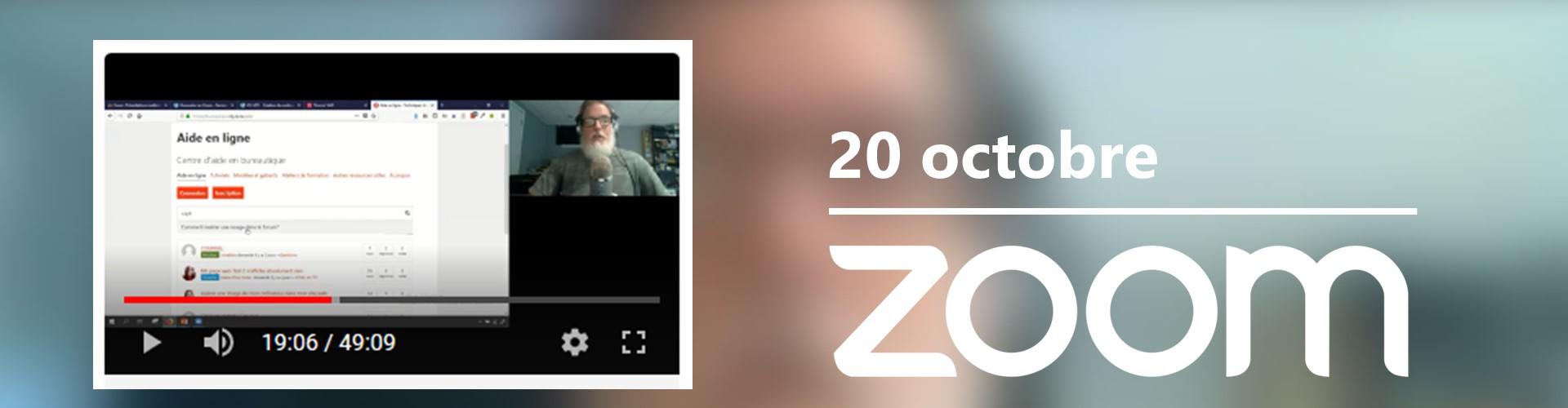 Rencontre du 20 octobre sur Zoom
