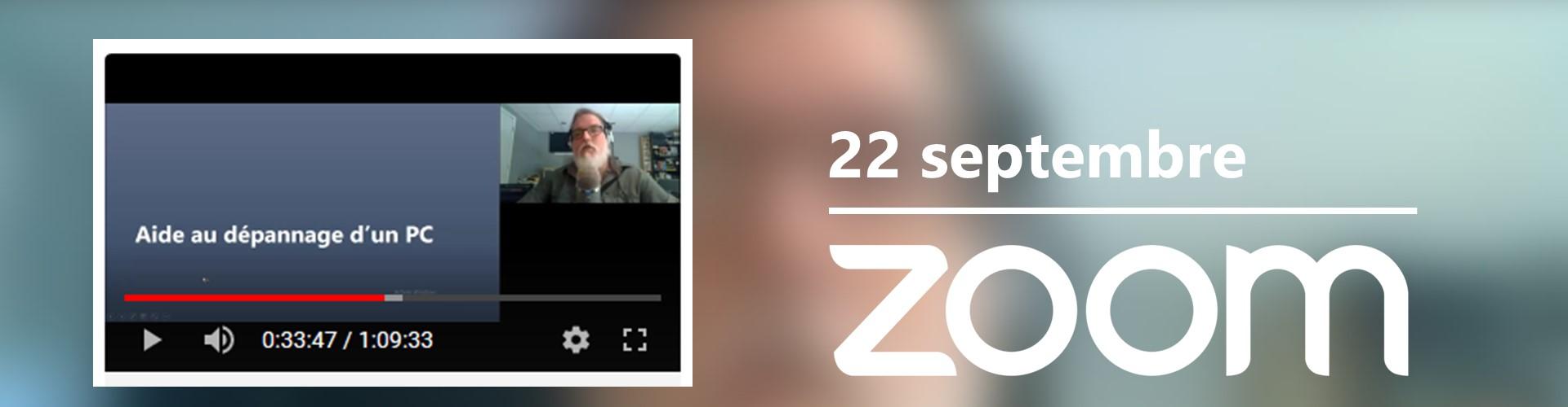 Rencontre du 22 septembre sur Zoom