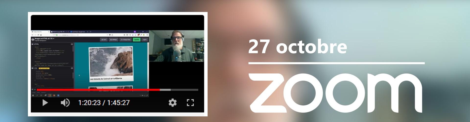 Rencontre du 27 octobre sur Zoom