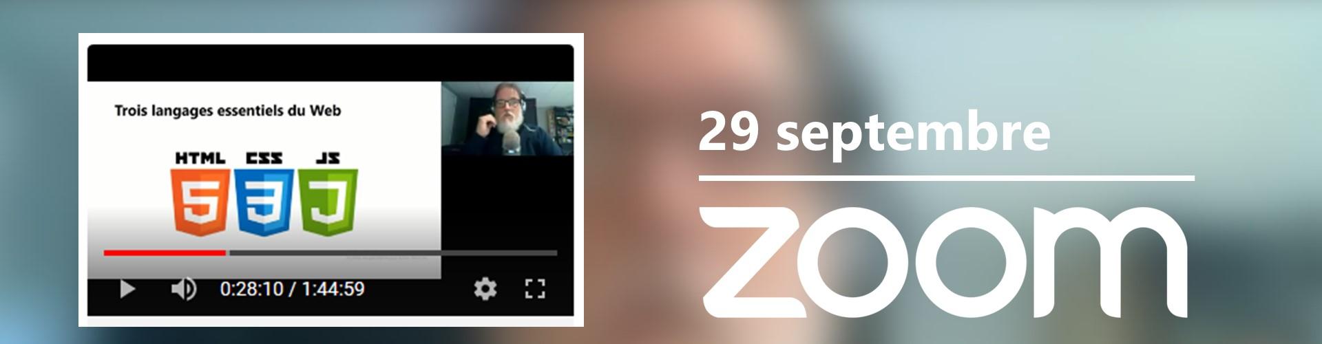 Rencontre du 29 septembre sur Zoom