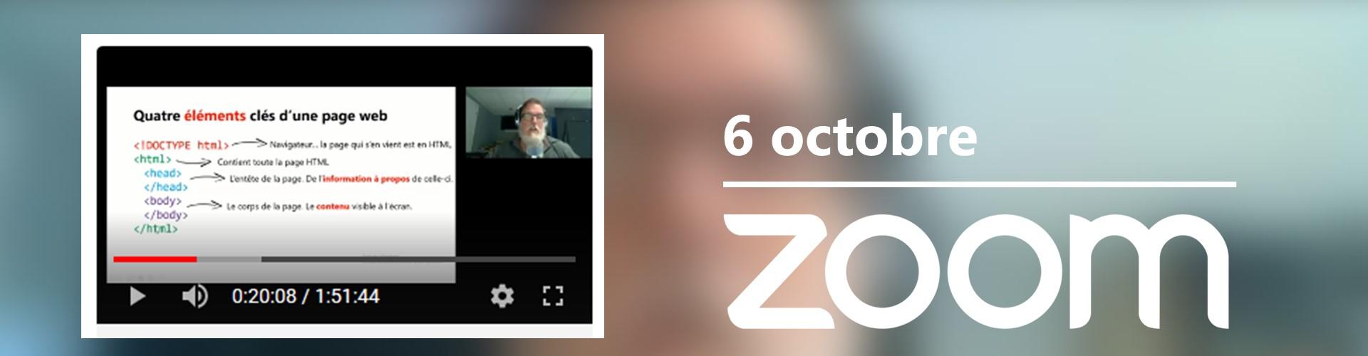 Rencontre du 6 octobre sur Zoom