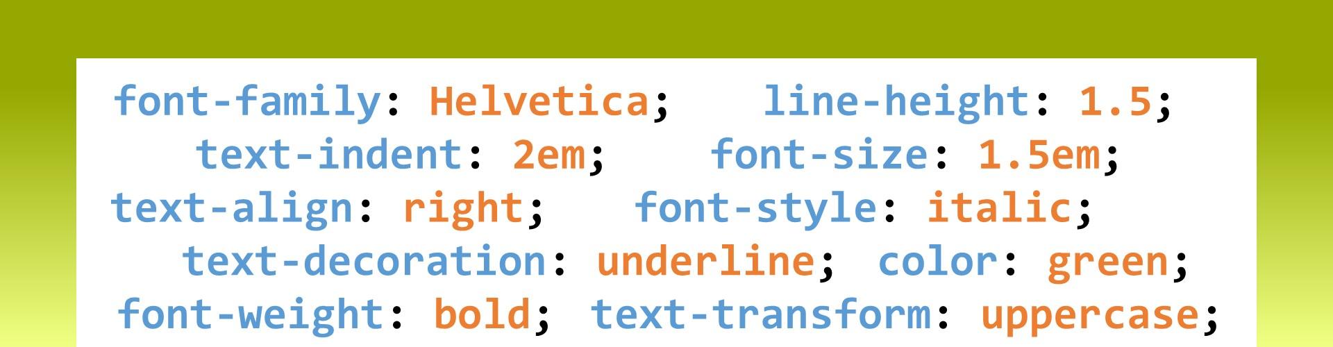 CSS : Mise en forme de texte